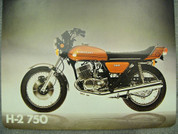 1973 Kawasaki H-2 750 brochure catalog