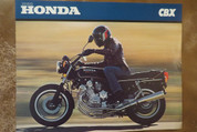1980 Honda CBX motorcycle brochure catalog