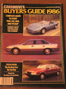 1986 Car and Driver Buyers Guide all cars/trucks