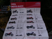 2004 Moto Guzzi Brevia and full line poster brochure catalog