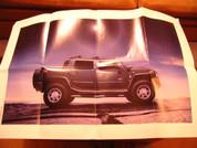 2005 Hummer H2 sales brochure catalog/Poster