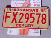 Arkansas Dealer car license plate