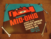 Can-Am race cars Mid Ohio 1972 poster