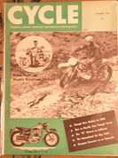 Cycle magazine December 1954 Triumph Harley 74