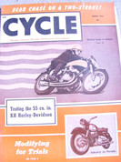 Cycle magazine march 1954 Harley KH
