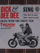 Dick&Dee Dee sing for Triumph Motorcycle promotion 45 RPM record