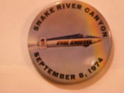 Evel Knievel Snake river canyon 1974 large jump button