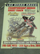 Gene Romero Flat track motorcycle race poster 2010 Las Vegas South Point