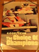 Goodyear tire formula one gran prix Ferrari poster