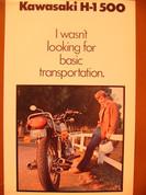 1975 Kawasaki H-1 500 two stroke 3 cylinder  brochure catalog