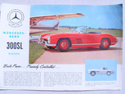Mercedes Benz 300 SL Roadster Brochure catalog