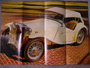 MG convertible TC model poster
