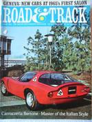 Triumph Spitfire,Alfa,Peugot, Road and Track magazine June 1965