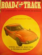 Toyota 2000GT,Firebird,Lamborghini,Road and Track magazine June 1967