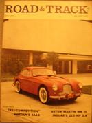 Triumph TR3,Saab, Jaguar 3.4, Road and Track magazine May 1957