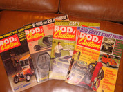4 Rod and Custom magazines 1969 to 74.