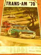Trans-Am 1970 Mustang Camaro Javelin race poster