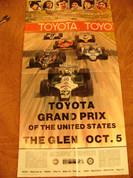 US Formula 1 GP Watkins Glen Gran Prix Michael Turner 1980 poster & ticket