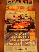 US GP Formula 1 Gran Prix poster Micheal Turner 1979 & ticket