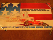 USA GP west formula one 1976 Niki Lauda Fittipaldi Poster