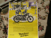 Vincent Black Shadow ORIGINAL factory poster
