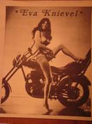 Vintage nude biker mama chick Eva Knievel