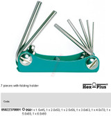 05022370001 WERA 950/7 KM 7PC FOLDING HEX KEY SET METRIC