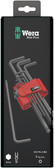 WERA 05073596001 950 PKL/9 BM SB HEX KEY SET