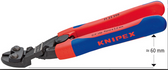 71 22 200 Knipex 8 inch ERGO HANDLE ANGLED HEAD LEVER ACTION MINI-BOLT CUTTER