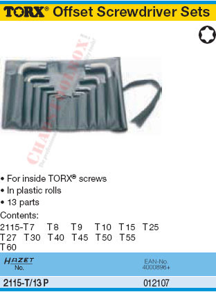 Hazet 2115-T45 T45 Torx Offset Screwdriver
