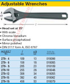 HAZET 279-4 ADJUSTABLE WRENCH
