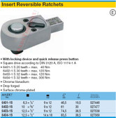 HAZET 6401-1S REVERSIBLE RATCHET HEAD