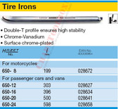 HAZET 650-20 TIRE IRONS