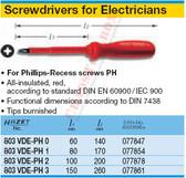 HAZET 803VDE-PH1 SCREWDRIVERS