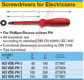 HAZET 803VDE-PH2 SCREWDRIVERS