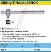 "HAZET 865X SLIDING T-HANDLE 6,3 (1/4"")"