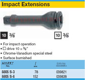 HAZET 8805S-3 EXTENSION FOR IMPACT SOCKETS