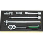 96838175 Stahlwille 1/2 Drive Ratchet/Extension Set