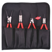 """9K 00 19 51 US Knipex 4 PC.  CIRCLIP """"SNAP-RING"""" SET IN POUCH"""