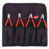 "9K 00 19 52 US Knipex 4 PC.  CIRCLIP ""SNAP-RING"" SET IN POUCH"
