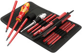 05003474001 WERA Kraftform Kompakt 60i/65i/67i/16 Bit set with handle and inter-changeable blades