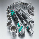 05134061001 WERA Wera 56 pc 3/8 dr. Zyklop Socket Set SAE/MM [New Color Coded Sockets]