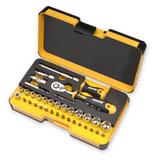 FELO 62053 lo R-GO XL 36pc Box Sockets, Bits Ergonic Ratchet, INCH