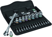 WERA 05004017001 8100 SA 7 ZYKLOP METAL RATCHET SET 1/4 28 PCS RATCHET SET PUSH-THROUGH SQUARE METRIC