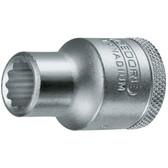 "Gedore 6138780 Socket 1/2"" 3/16 W D 19 3/16W"