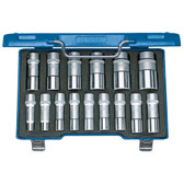 "Gedore 2190214 Socket set 1/2"" 15 pcs UD 10-32 mm D 19 L-015"