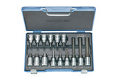 "Gedore 6129360 Screwdriver bit socket set 1/2"" 15 pcs in-hex 5-17 mm IN 19 LKM"