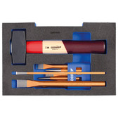 Gedore 2835932 Chisel set in 1/2 L-BOXX 136 Module 1100 CT1-350