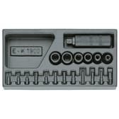 Gedore 1402242 Impact driver set in 1/3 ES tool module 1500 ES-K 1900