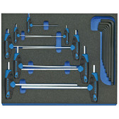 Gedore 2016540 Hexagon Allen key set in 2/4 CT tool module, 17 pieces 2005 CT2-DT 42